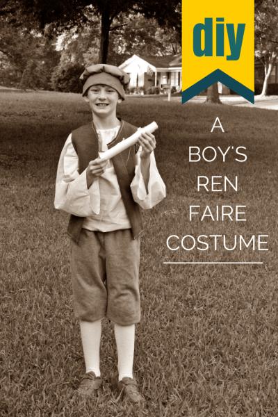 A Boy's Ren Faire Costume