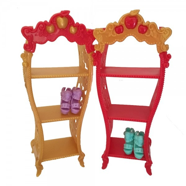 Doll Furniture Kids Playhouse Shoes Rack For Barbie Dollhouse