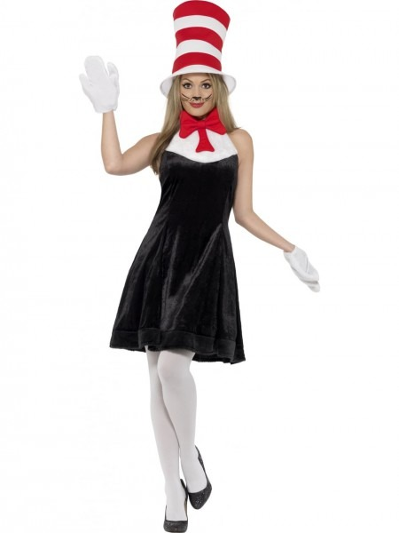Dr  Seuss Female Cat In The Hat Costume