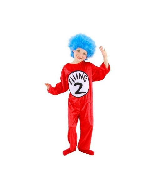 Dr  Seuss Thing 1 Kids Cat In The Hat Costume