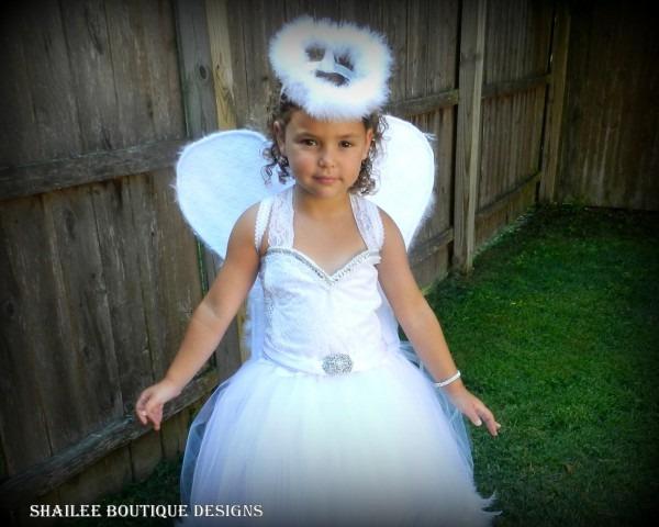 Angel Tutu Dress Costume,white Full Length Tutu Dress,halo
