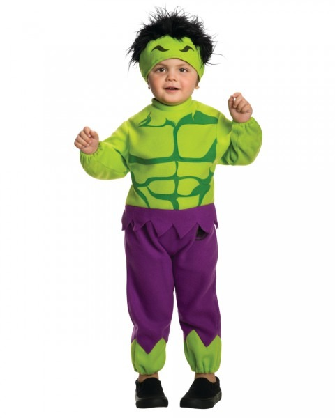 Toddlers Marvel Comics Avengers Fleece The Hulk Costume Size 2t