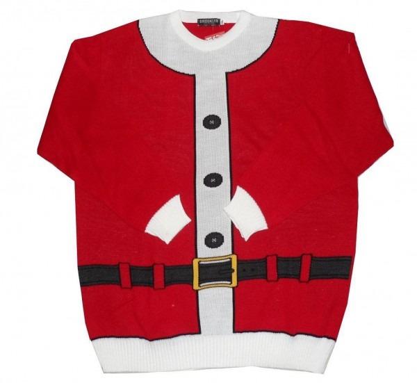 Brooklyn Festive Cristmas Jumper  Santa Suit  In Size 2xl To 5xl
