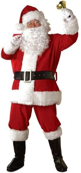 Regal Regency Plush Santa Suit Adult Costume