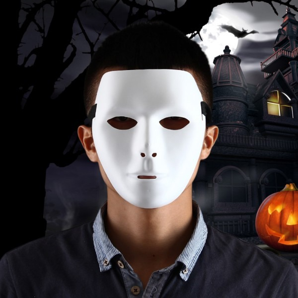 Thick Blank Male The Phantom Mask Costume White Face Mask