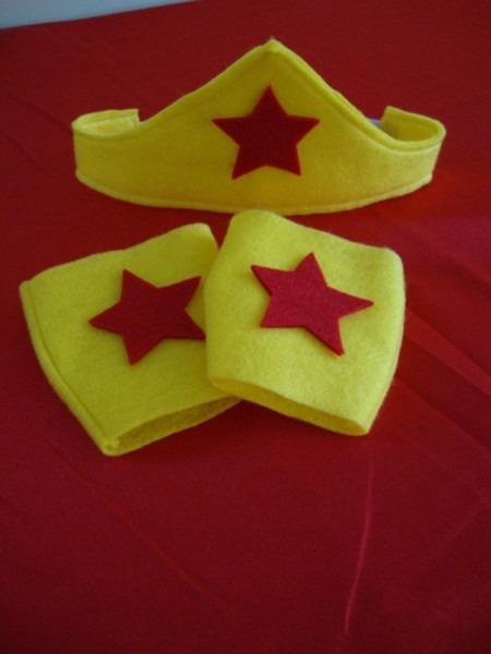 Sale Wonder Woman Tiara And Cuffs In Felt For Girls  $10 00, Via