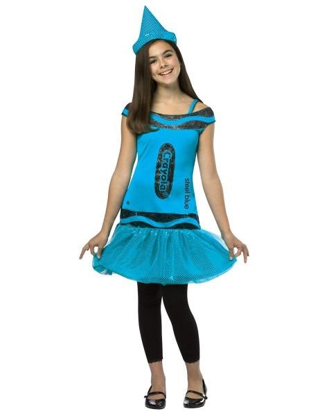 Crayola Crayon Blue Tutu Girls Costume – Spirit Halloween