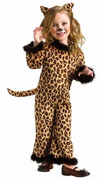 Girls Leopard Costume Cat Toddler Child Cheetah Halloween Jumpsuit