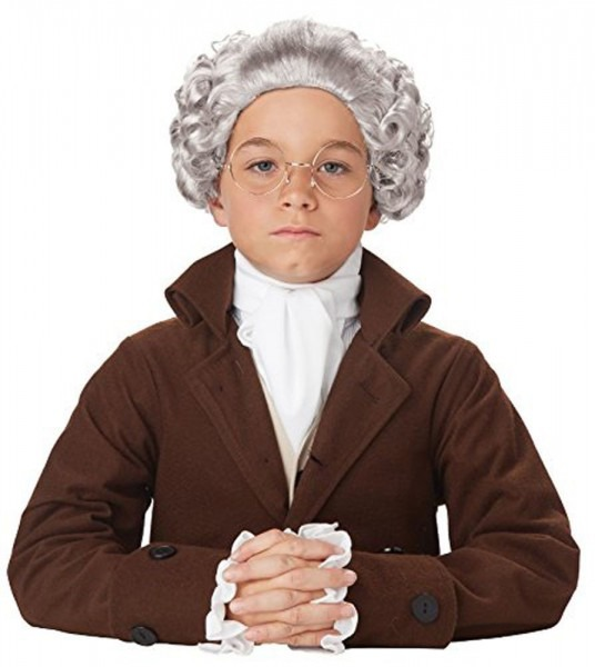 Colonial Costume Boys Wig