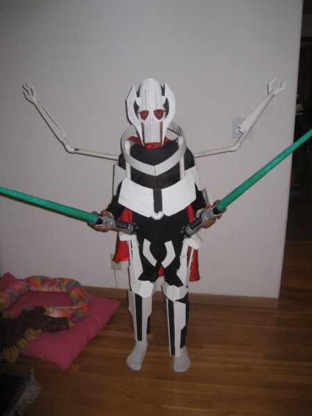 General Grievous Costume With Moving Mechanical Extra Set Of Arms
