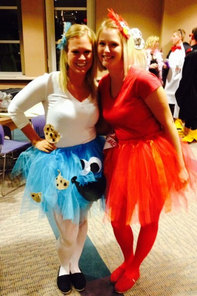 Adult Women's Cookie Monster And Tickle Me Elmo Tutu Costumes
