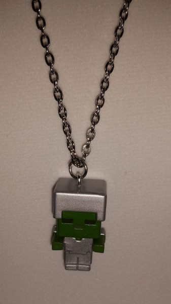 Minecraft Zombie With Iron Armor Necklace