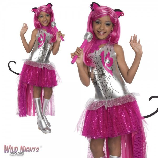 Fancy Dress Girls Monster High Catty Noir Medium 5