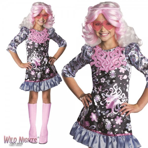 Fancy Dress Girls Monster High Viperine Gorgon Wig Medium 5