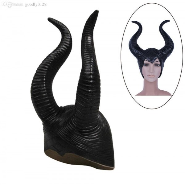 Fashion Nice Trendy Genuine Latex Maleficent Horns Adult Women