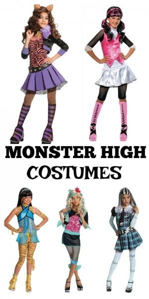 5 Cute Monster High Kids Halloween Costumes