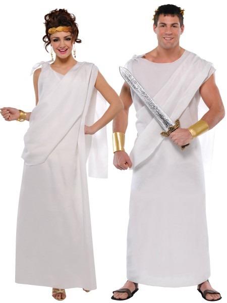Adults Toga Costume Mens Greek Roman Fancy Dress Ladies Grecian