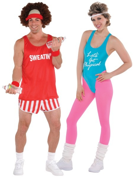 80s Workout Costume Mens Ladies Exercise Fitness Instructor Fancy
