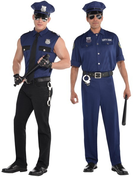 Cop Costume For Men & Adults Police Costume Mens Policeman Cop
