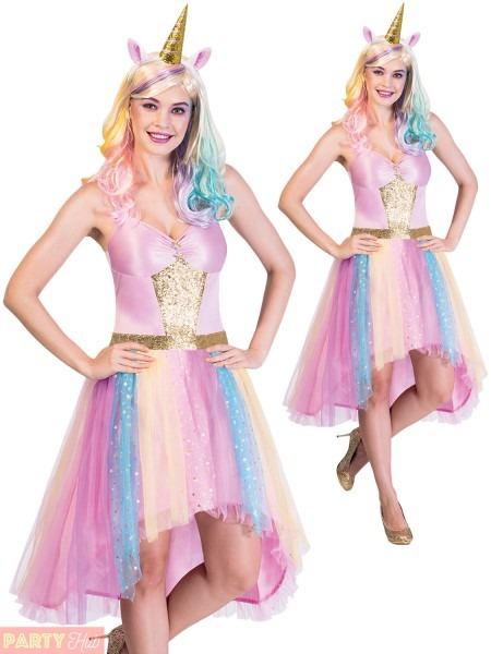 Ladies Mystic Unicorn Costume Adults Magical Fantasy Fancy Dress