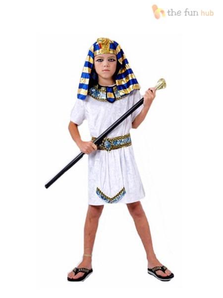Boys Egyptian Pharaoh King Fancy Dress Book Week Costume