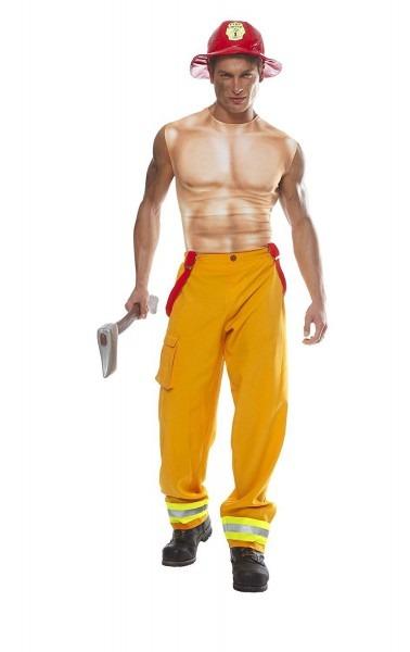 Amazon Com  Costume Culture Men's Sexy Firefighter Dude Costume