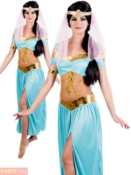 Ladies Arabian Princess Costume Aladdin Jasmine Fancy Dress