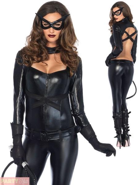 Ladies Cat Women Costume Adults Halloween Fancy Dress Womens Sexy
