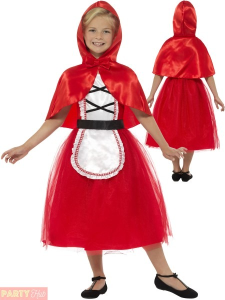 Smiffys Deluxe Red Riding Hood Girls Fancy Dress Fairy Tale Book