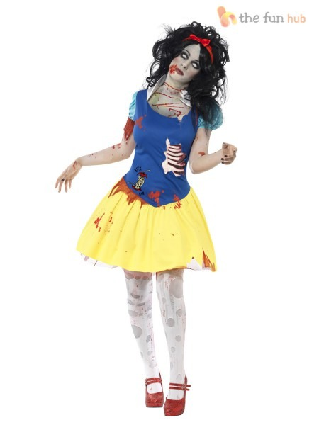 Ladies Zombie Snow Fright White Horror Halloween Fairytale Fancy