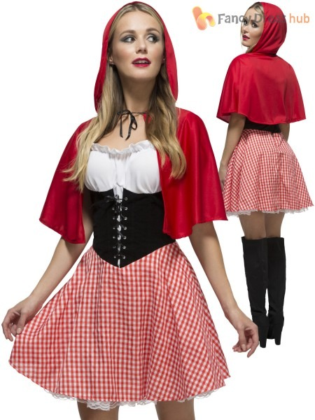 Ladies Fever Red Riding Hood Costume Adults Book Week Fancy Dress