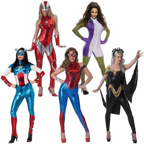 Female Superhero Costumes Adult Sexy Marvel Group Halloween Fancy
