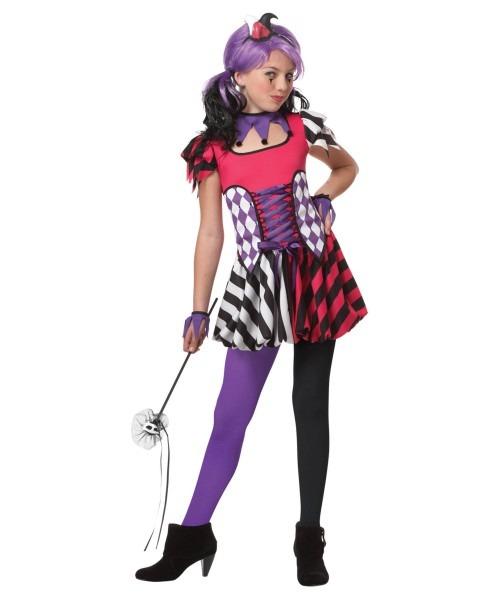 Clown Festive Jester Teen Costume