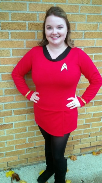Homespun Luxe  Happy Halloween 2014  Diy Original Star Trek Female