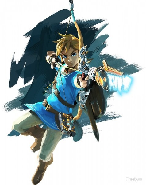 Link With Bow Legend Of Zelda Breath Of The Wild  By Freeburn