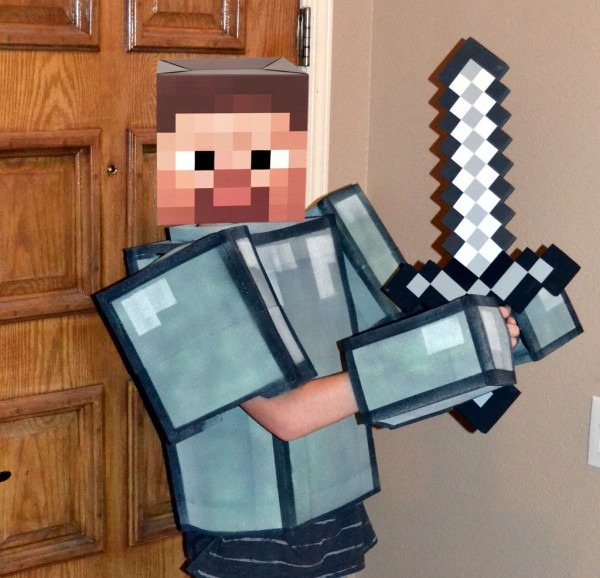 """Easy """"no Sew"""" Soft Foam Minecraft Armor  8 Steps (with Pictures)"""