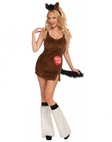 Hot To Trot Womens Adult Sexy Animal Horse Halloween Costume