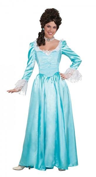 Blue Colonial Lady Womens Adult Renaissance Halloween Costume