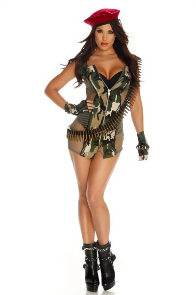Camo Costumes For Women & 2018 Female New Camouflage Dress