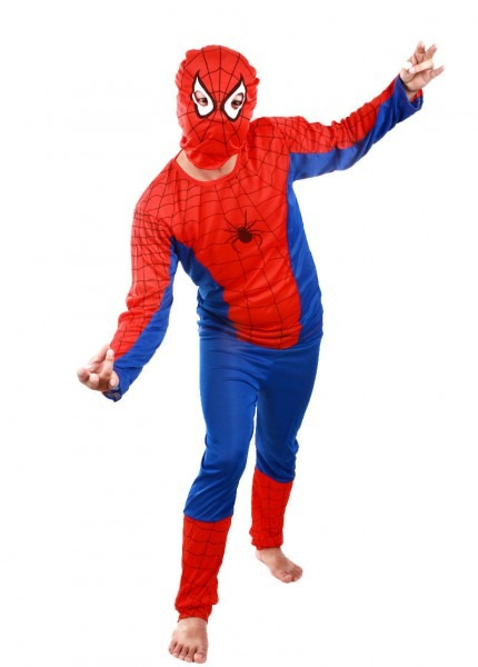 Free Shipping,5pcs Lot ,adult Spiderman Costumes,halloween Party