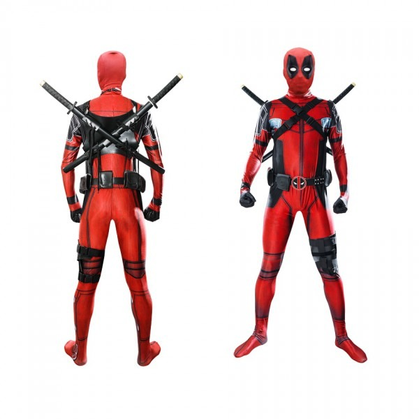 Free Shipping Hot Marvel Halloween Cosplay Full Body Deadpool