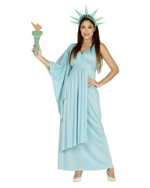 Statue Of Liberty Costume Dress For Carnival & Halloween