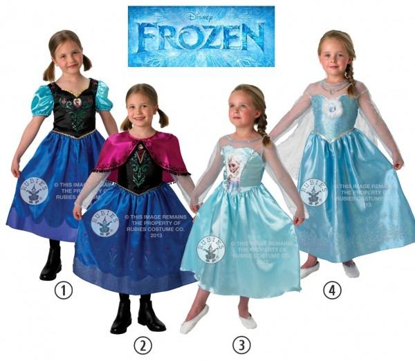 Sale! Kids Licensed Disney Frozen Anna Or Elsa Girls Fancy Dress