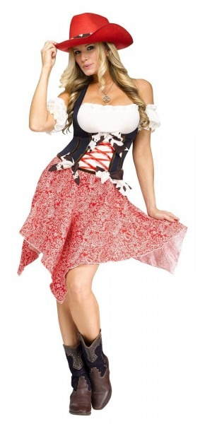 Hoedown Honey Sexy Cowgirl Western Rodeo Dress Adult Womens