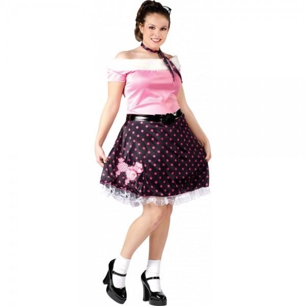 Plus Size 50's Poodle Dress Costume [110285]