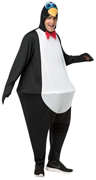 Mens Aquatic Flightless Bird Penguin Hoopster Adult Costume