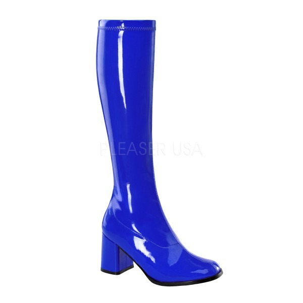 Sexy 3 Inch Block Heel Retro Women's Go Go Costume Boots
