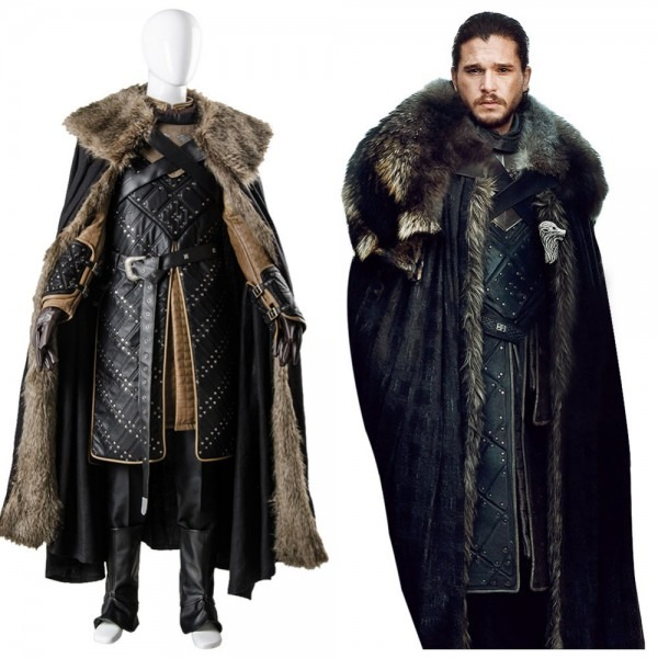 Got 7 Game Of Thrones Season 7 Jon Snow Outfit Cosplay Costume
