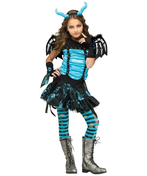 Gothic Dragon Fairy Girls Costume