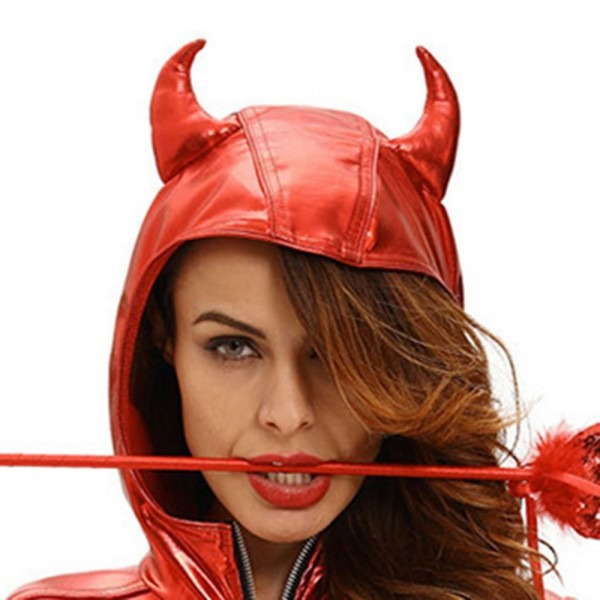 Halloween Costume Women Bodysuits Rompers Hot Sale Zipper Red